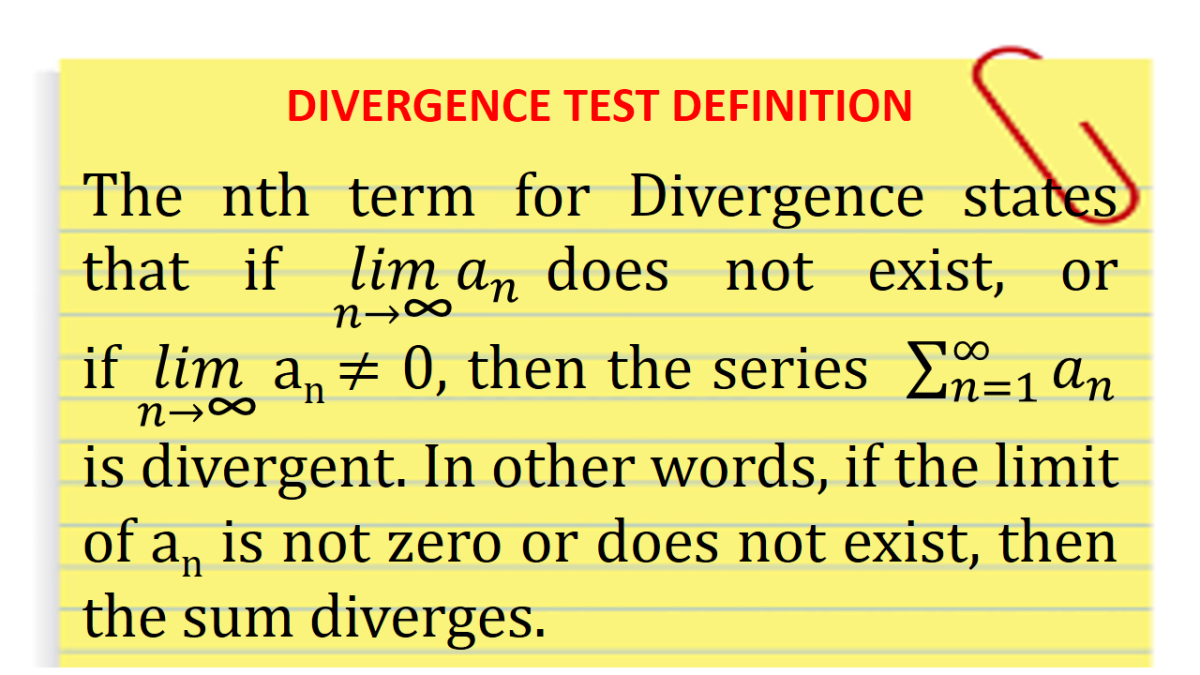 Divergence Test