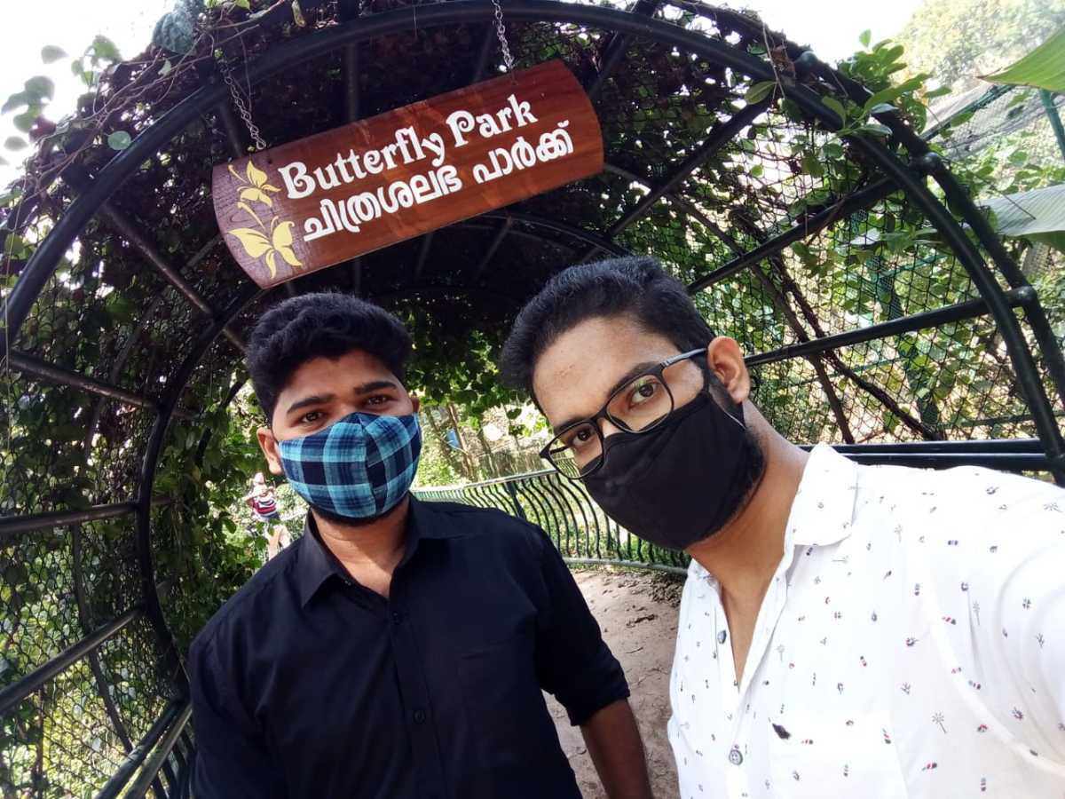 Selfie Infront of Butterfly Park