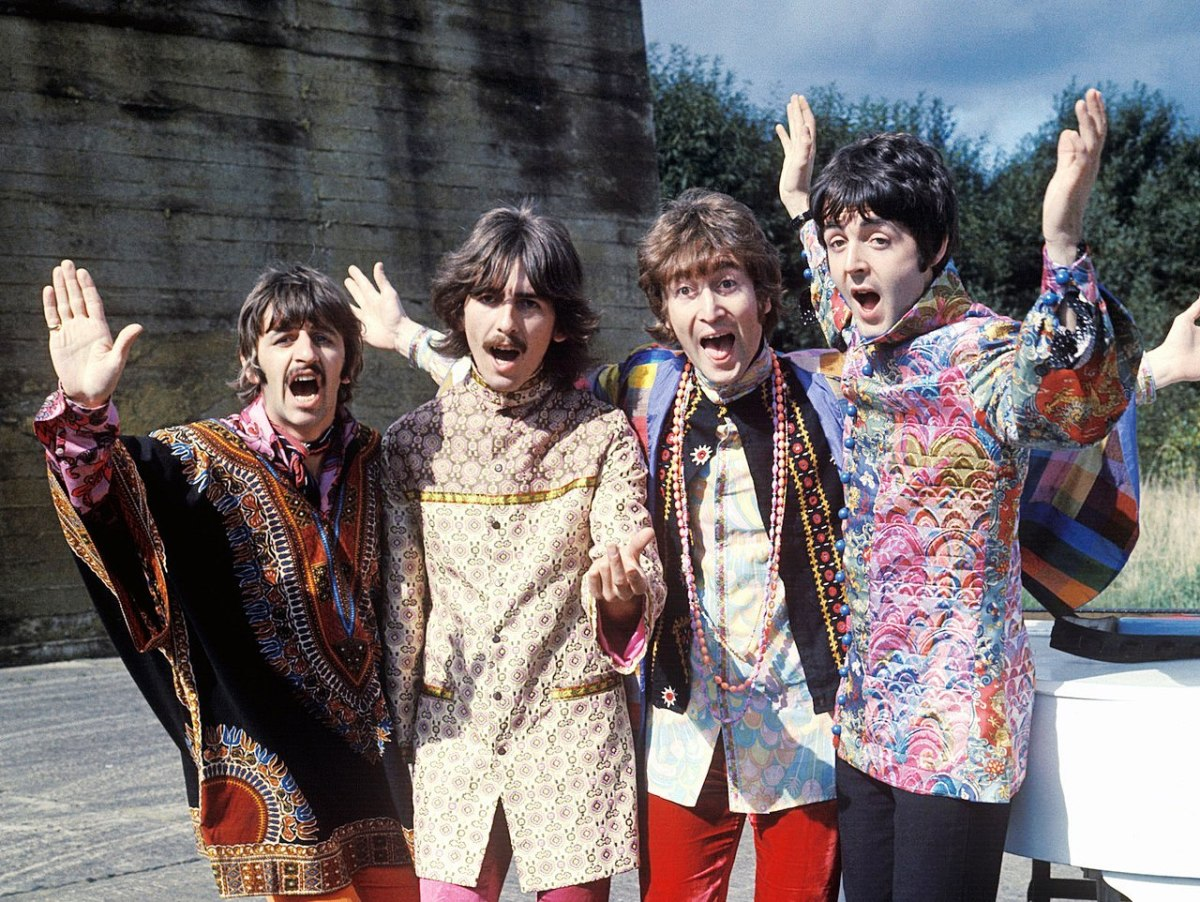 The Fab Four on their Magical Mystery Tour-- they are on Pinterest in spades.  You could get enough pinned material on them to do a PhD.