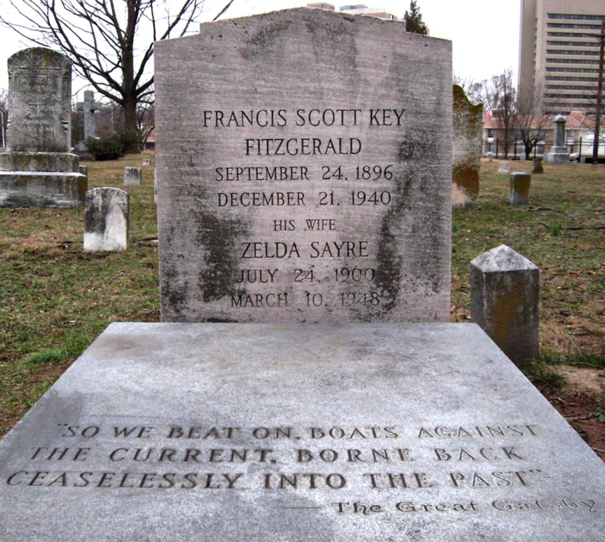 F. Scott Fitzgerald and Zelda  Grave Marker