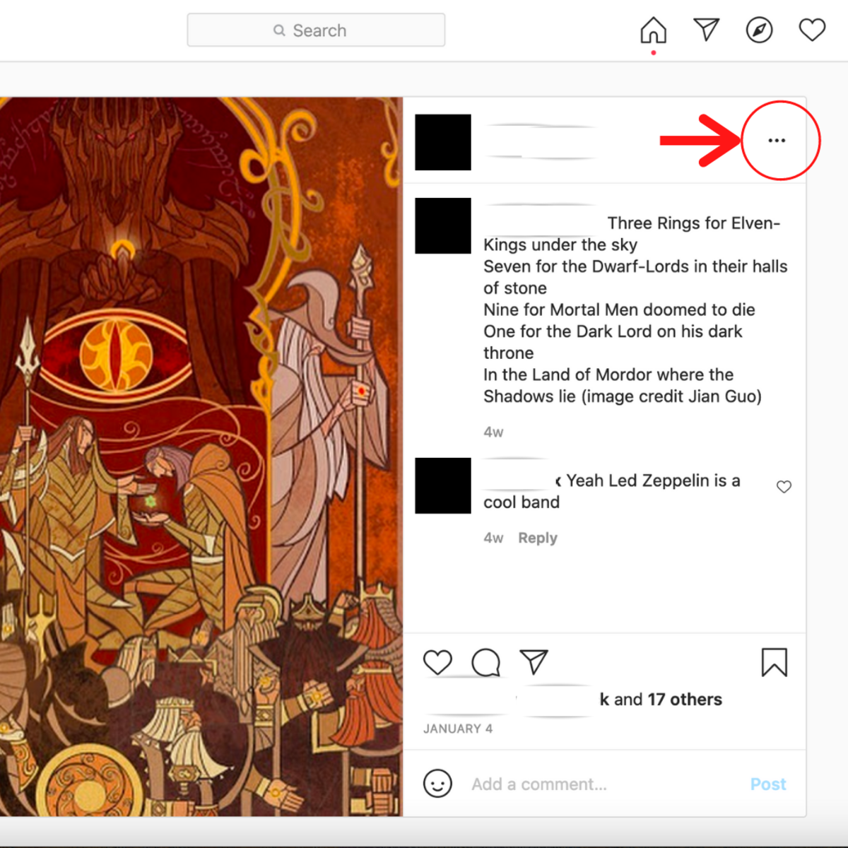 Click the dot icon to get Embed Options
