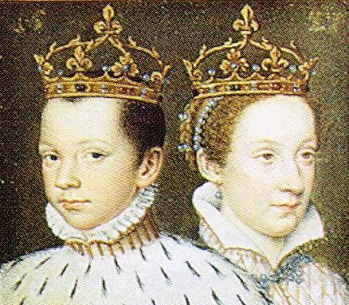 Mary's first husband was Francis II of France. Francis became King of France in 1559 and died in December 1560.