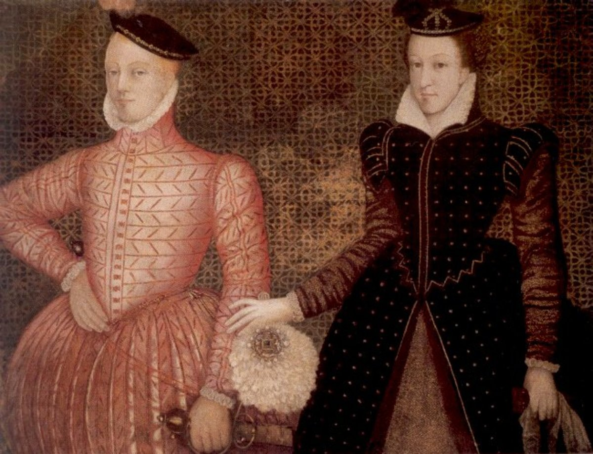 Mary and second husband Henry Stuart, Lord Darnley, parents of King James VI of Scotland,  later King James I of England.