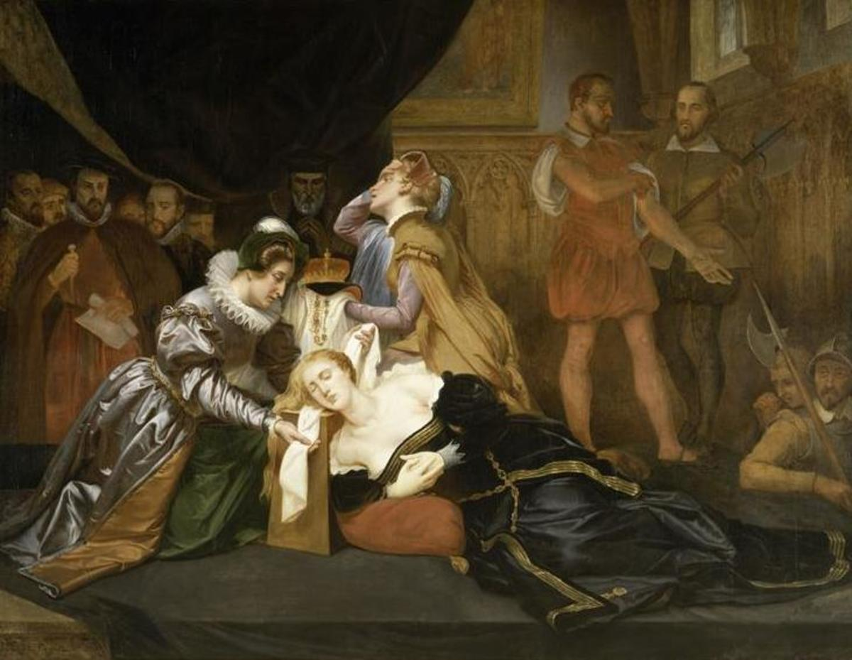 Mary, Queen of Scots was executed for treason on February 8th, 1587. She had been imprisoned by her cousin Elizabeth I of England from mid-May 1568.