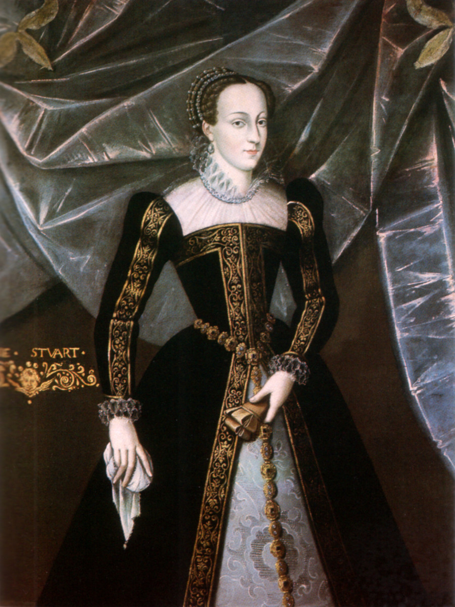 Mary, Queen of Scots in an official portrait circa 1561-67.