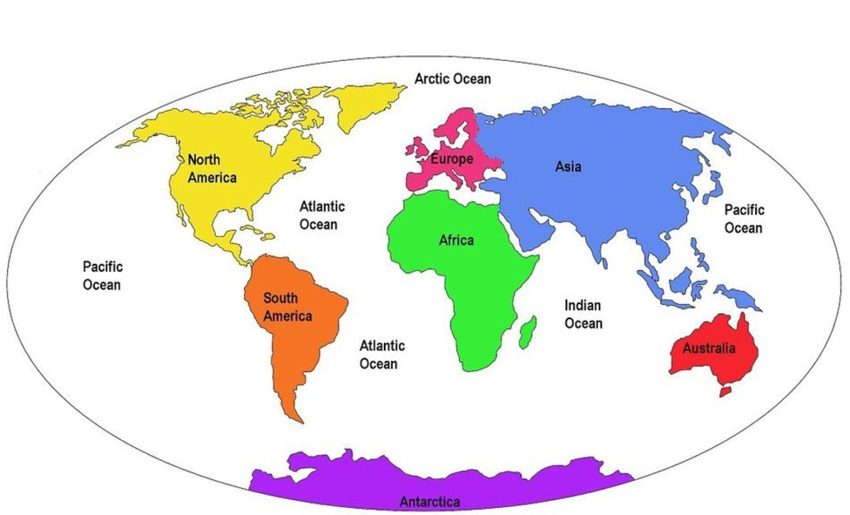 To help memorize the countries of the world, try breaking them down into continents!