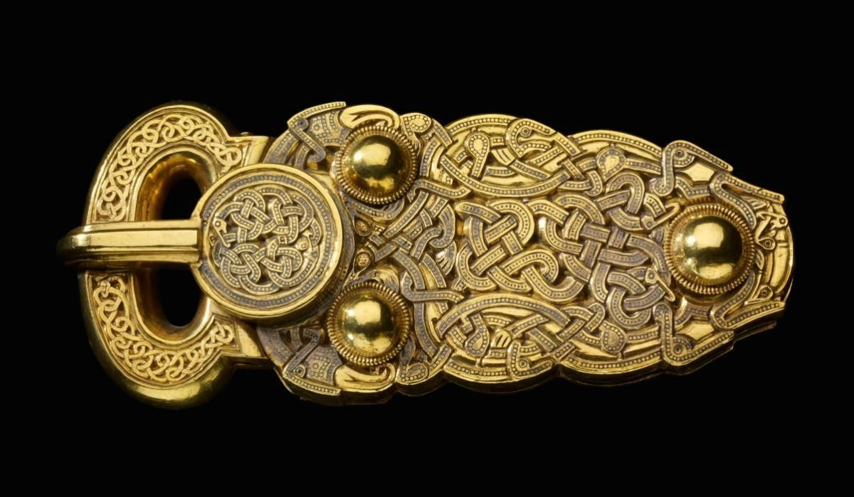 This belt buckle is made of gold.