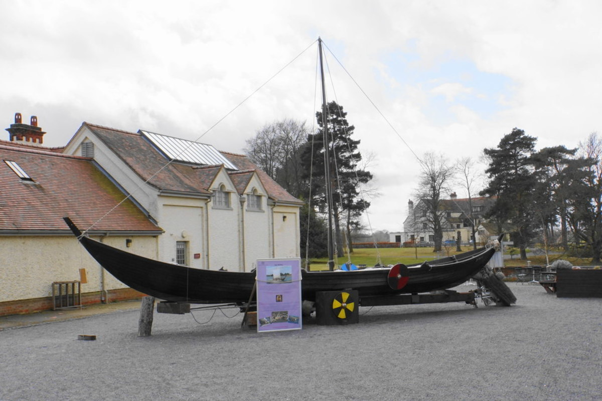 A scaled-down replica of the Sutton Hoo ship. The original was probably eight times bigger.
