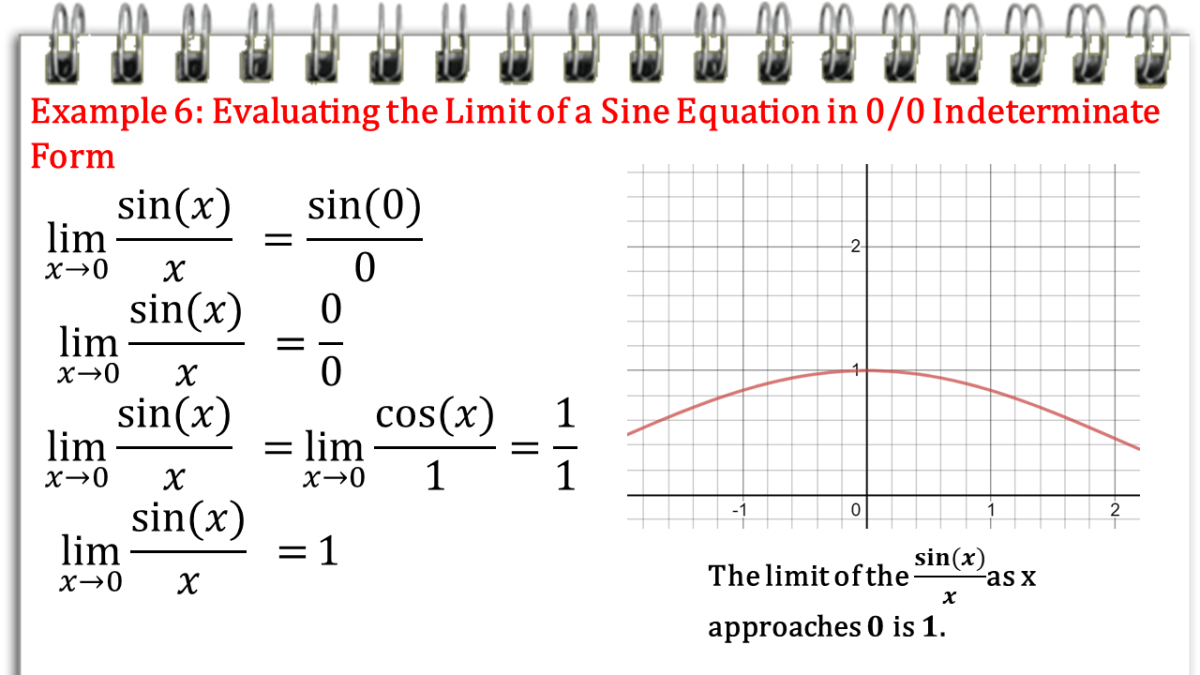 Evaluating the Limit of a Sine Equation in 0/0 Indeterminate Form