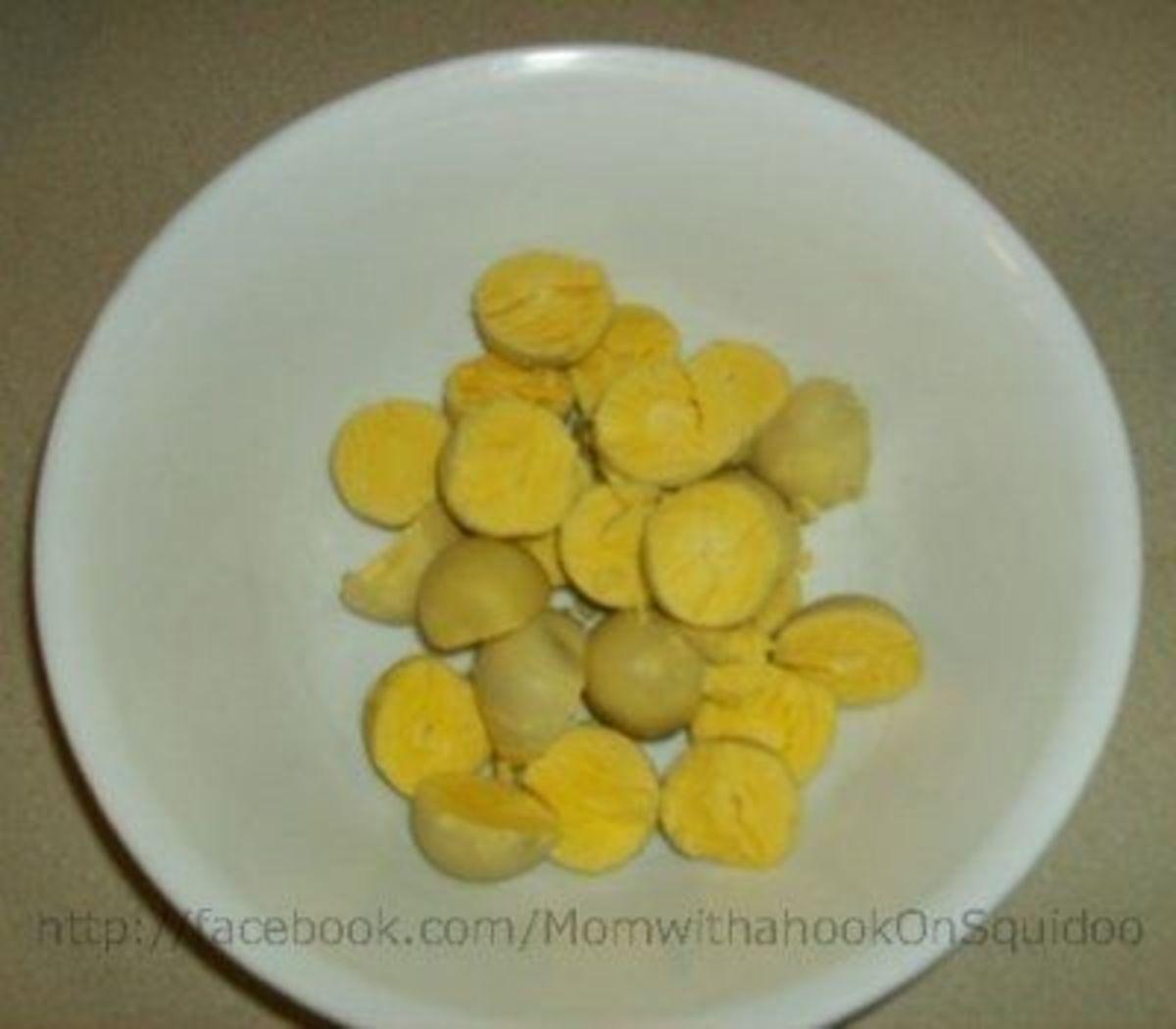 Behold, the lovely egg yolks!