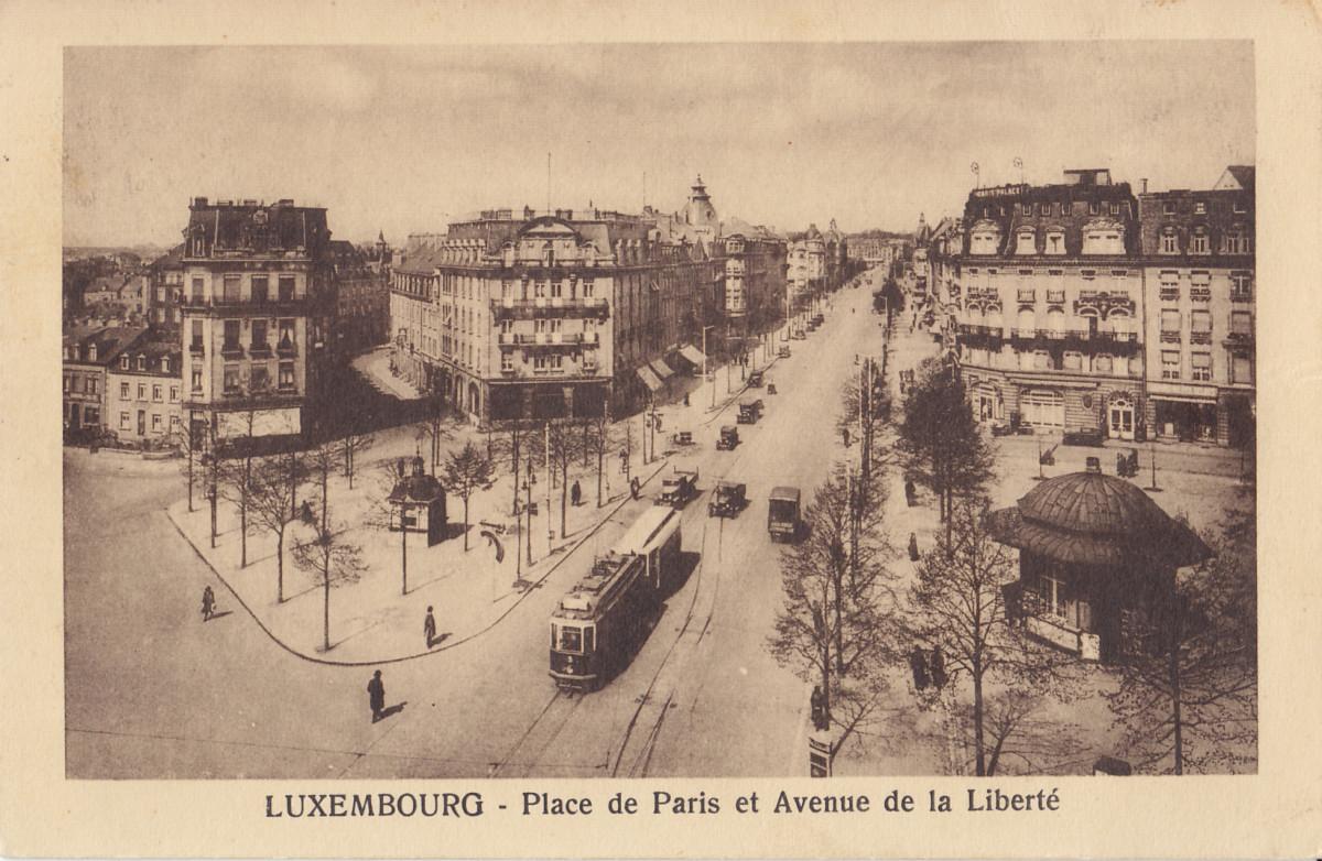 LUXEMBOURG - Place de Paris and Avenue de la Liberté, before 11 August 1936