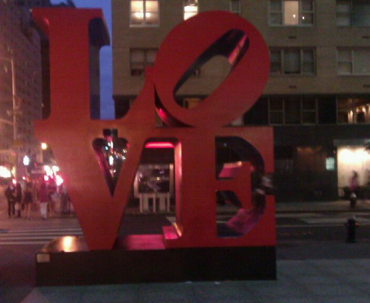 LOVE sculpture in NYC.