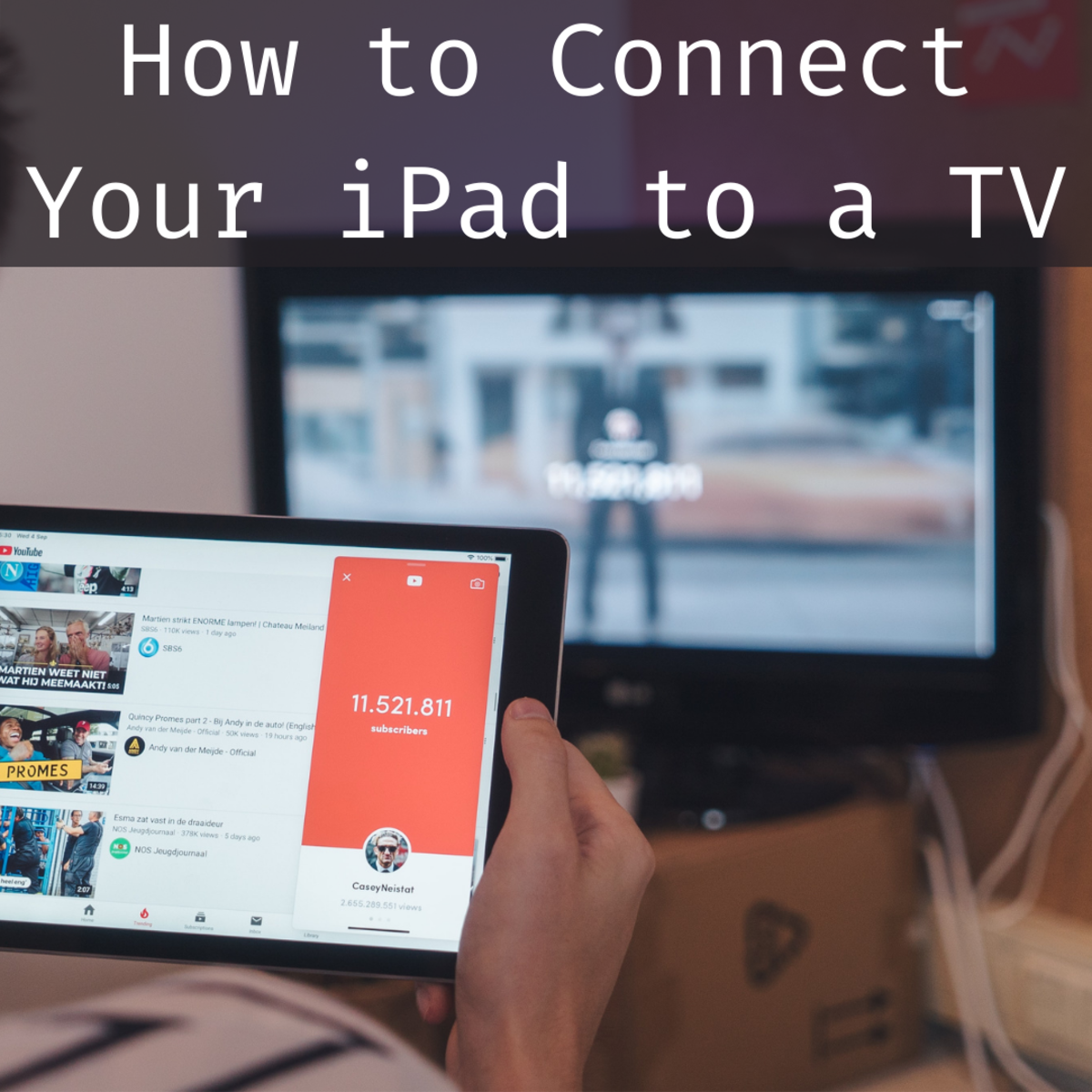 Read on to learn the best methods for connecting your iPad to your TV.