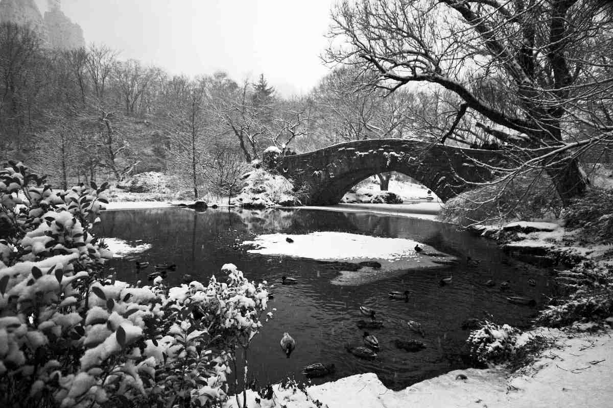 Gapstow Bridge in Central Park, NYC