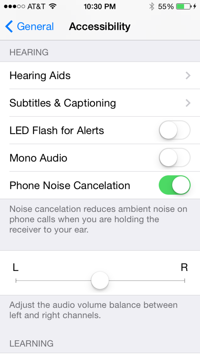 "Tap to enable the ""LED Flash for Alerts"" option."