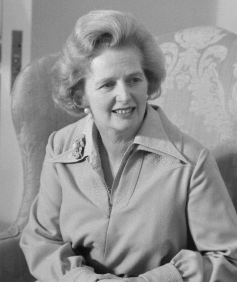 Margaret Thatcher (1925-2013), Former British Prime Minister.