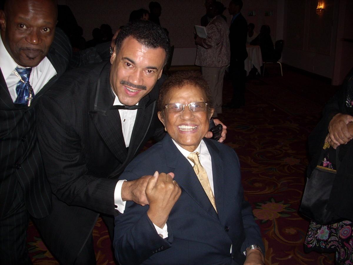 Bob with Hal Jackson