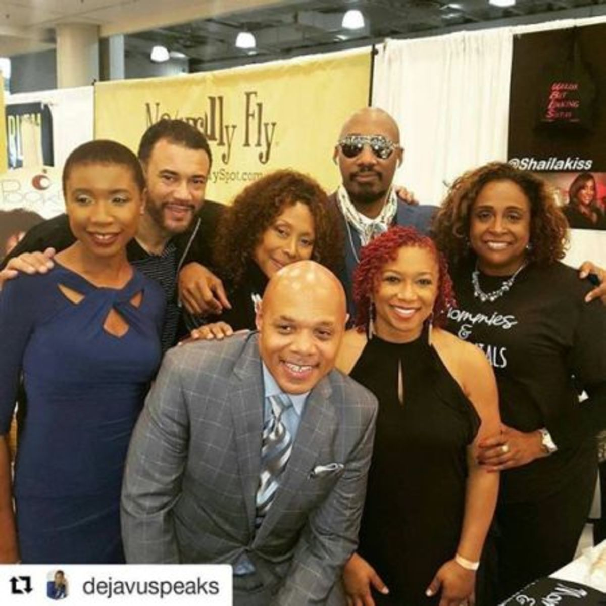 One of my favorite pics of the weekend with some of my co-workers at WBLS (L to R) @DrBobLee, @AnnTrip @DahvedLevy @shailakiss @dejavuspeaks @LennyGreen