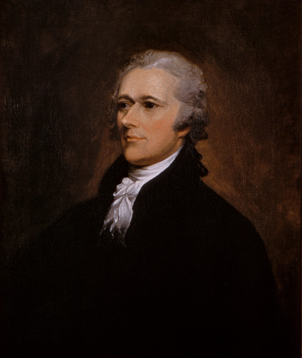 """""""Alexander Hamilton recruited John Jay and James Madison to write a series of essays defending the proposed Constitution, now known as The Federalist Papers..."""" (Chernow, pp. 247–48)"""
