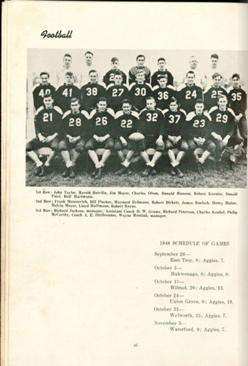1949 Rochester Ag School Football Team