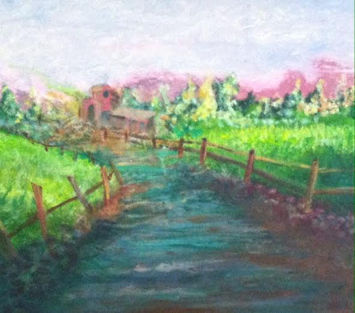 Winding waterway