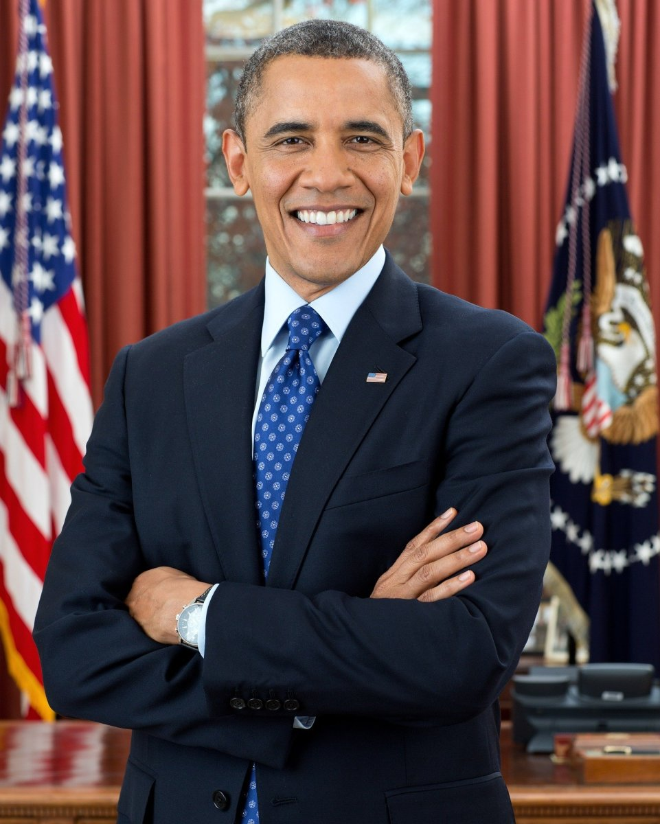 Barack Obama (Born: 1961), the 44th President of the United States