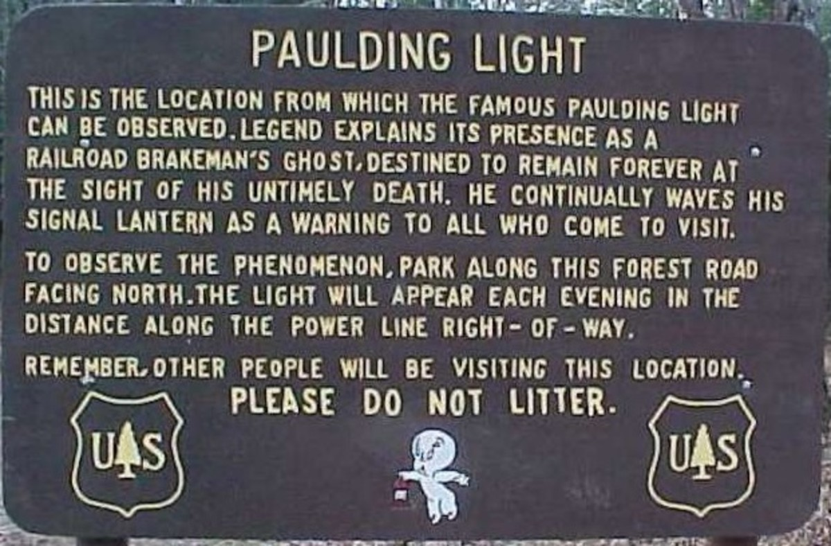 Paulding Light Welcome Sign