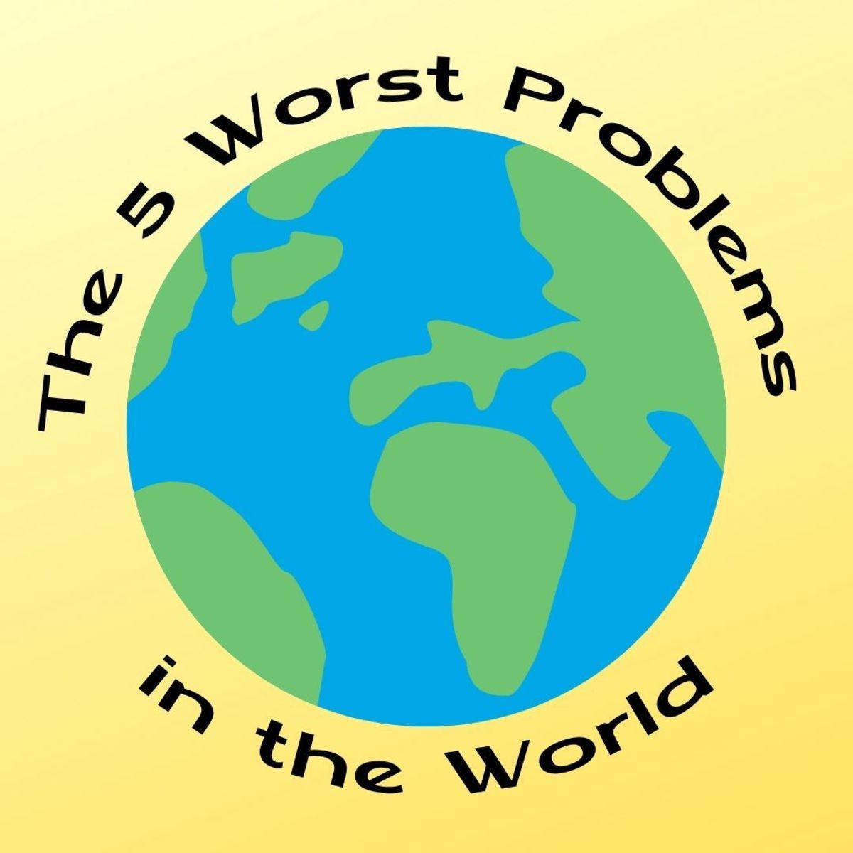 The top five global issues facing the world are wealth inequality, famine, homelessness, disease, and war.