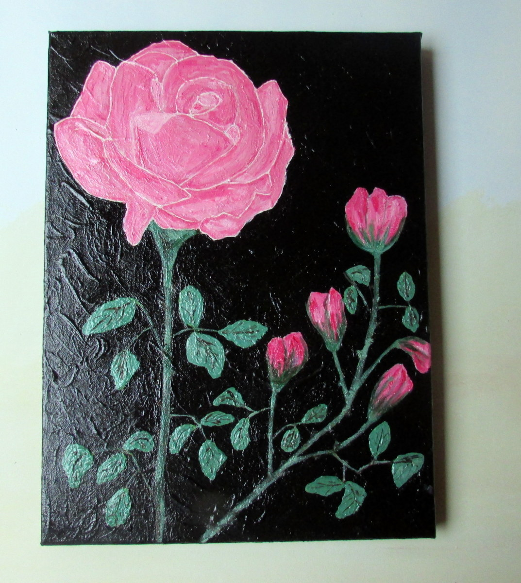 My painting of Pink Roses in acrylic