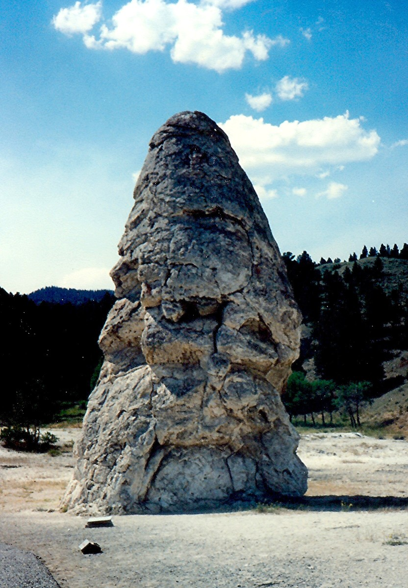 The Liberty Cap in Yellowstone