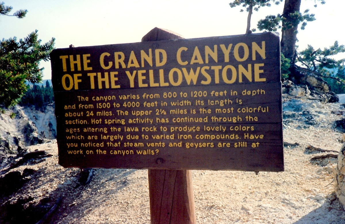 The Grand Canyon of the Yellowstone sign