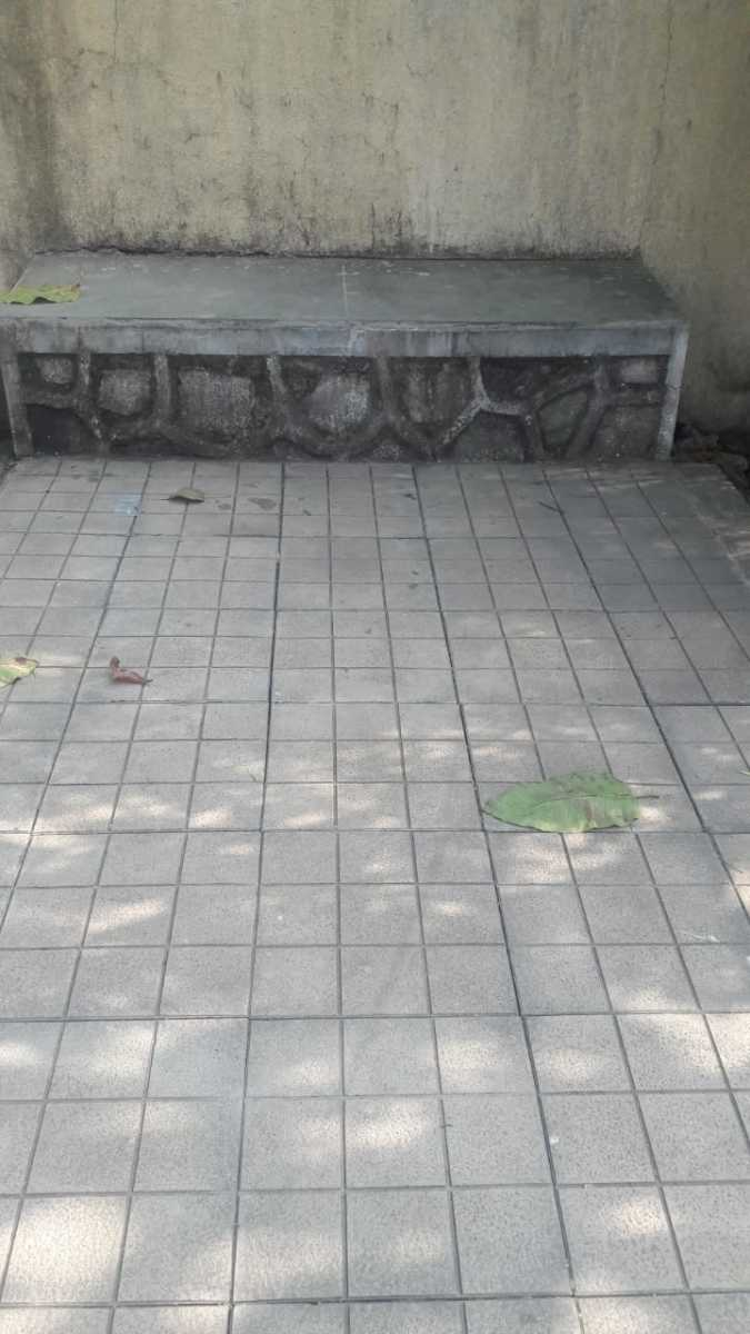 Cement bench before fixing granite top