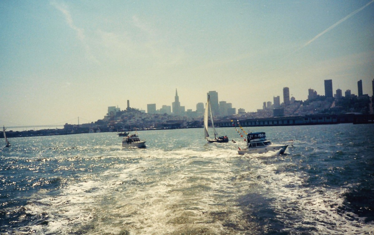 San Francisco skyline from the water.