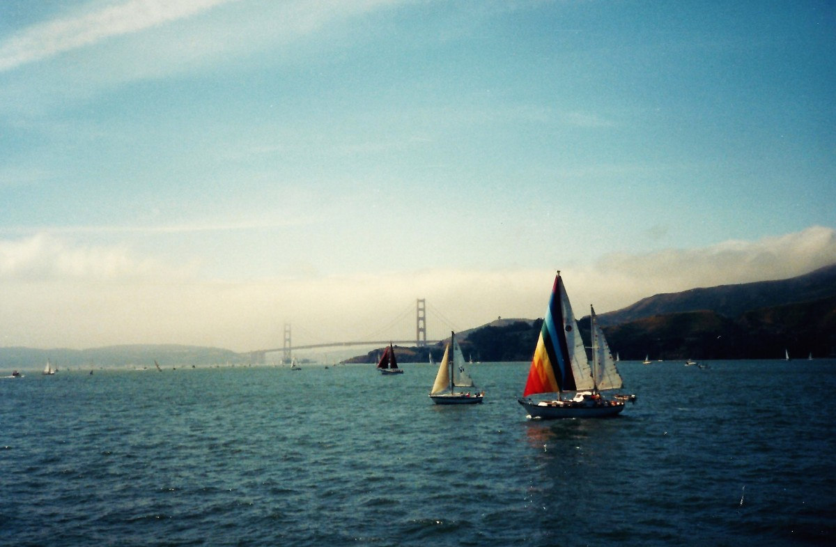 Sailboats and Golden Gate Bridge