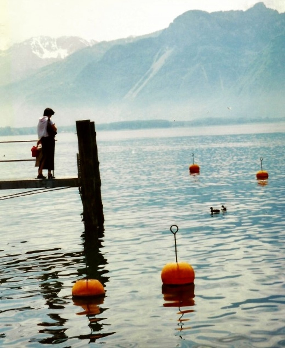 Visiting Montreux, and Viewing the Swiss Alps, and Lake Geneva