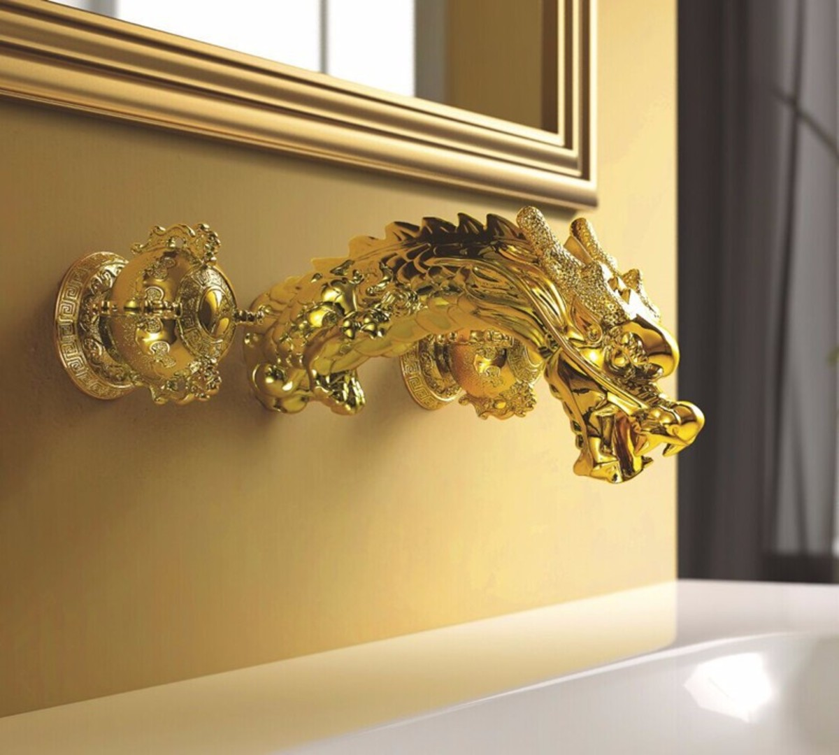 If you look hard enough, you can find metal Dragon fixtures for your bathroom. A Dragon sink faucet would look attractive and impressive. Gold and silver are both favored colors for this Zodiac