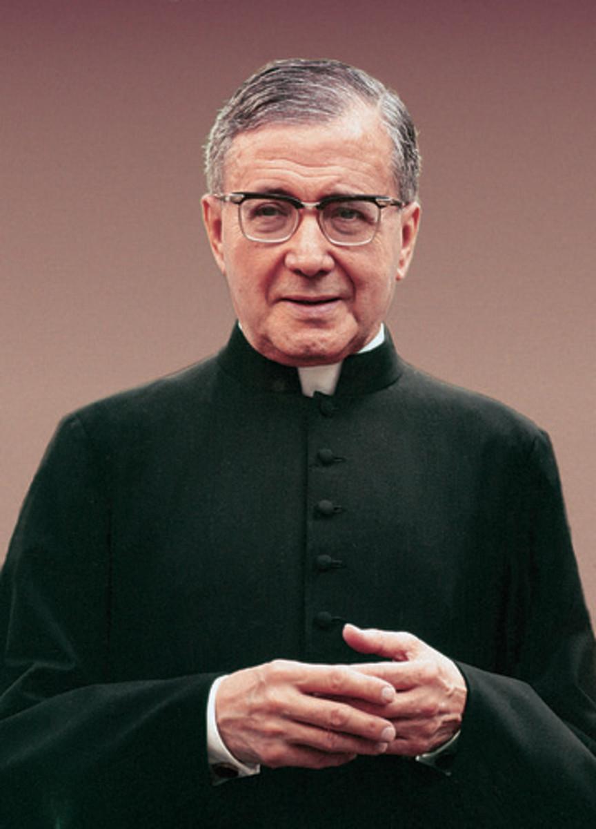 Josemaría Escrivá was made a saint by Pope John Paul II in 2002.