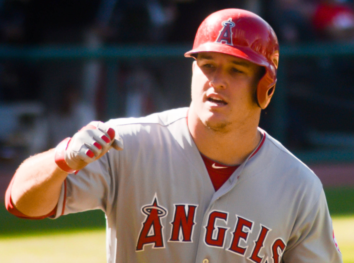 Mike Trout, seen playing against the Indians in 2014, has become the best player in baseball, but has only made one postseason appearance with the Angels.