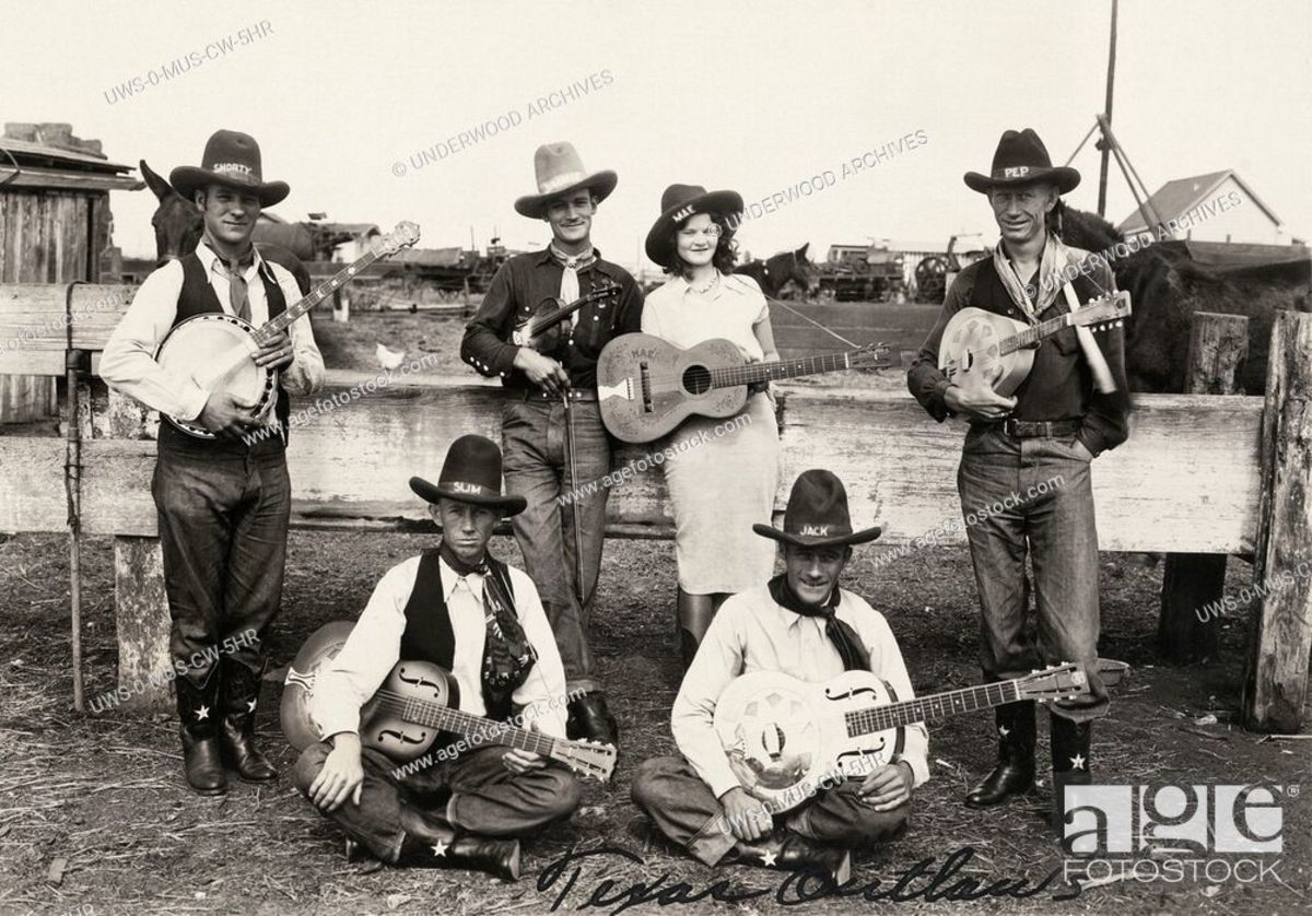 As early as the 1930s, Country-styled music bands took on American outlaws, as their visual motif, such as Jack LeFever and his Texas Outlaws, whom are pictured here,