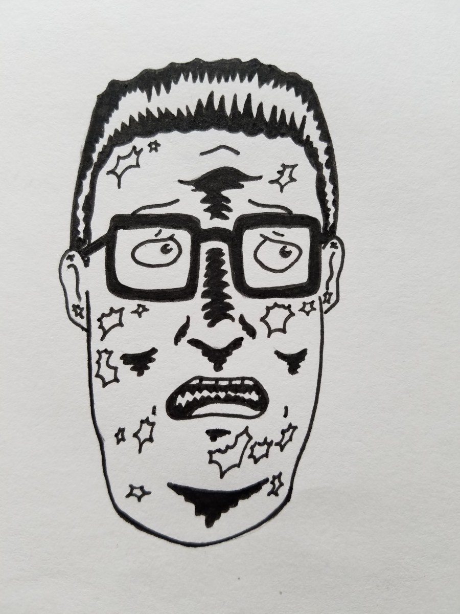 Learn how to draw bootleg Hank Hill like this by following the steps below.