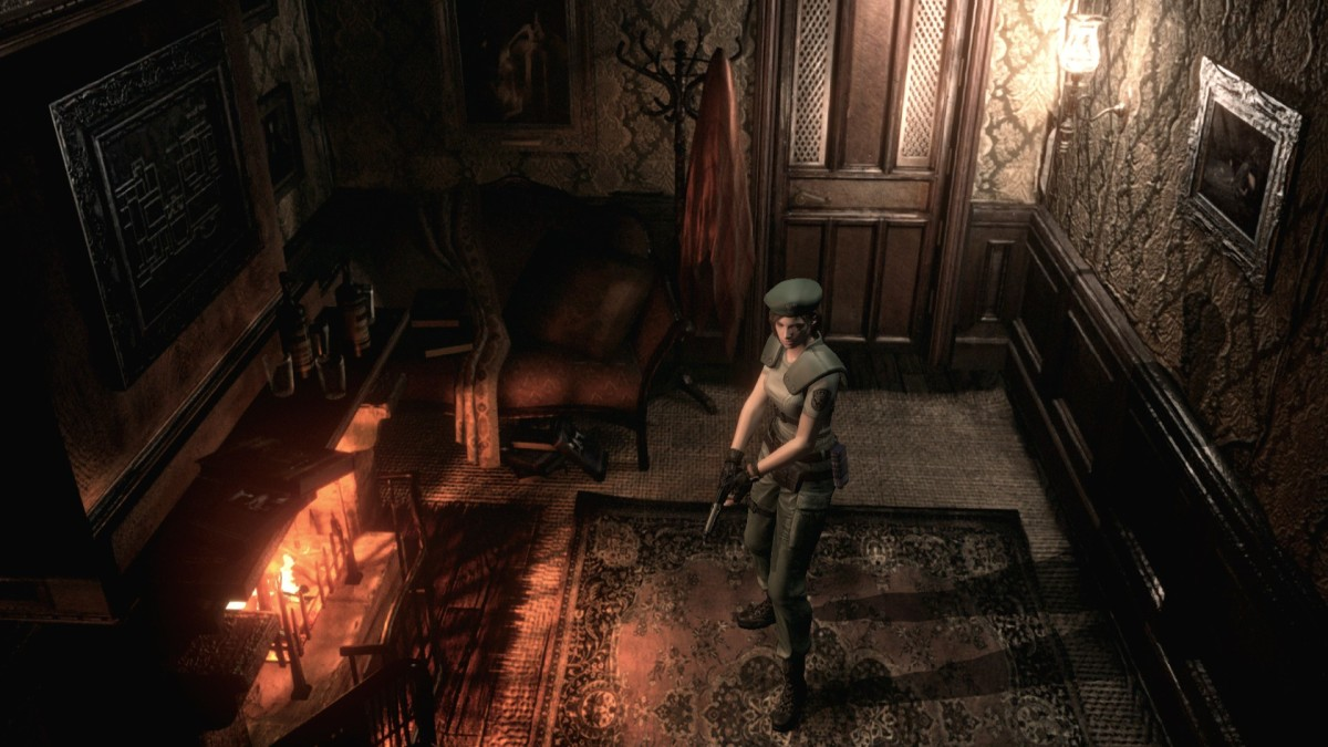 """The pre-rendered backgrounds used in the remake of """"Resident Evil"""" achieved visuals that outshined contemporary games that used fully 3D environments."""