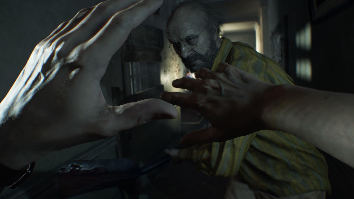 """The first-person perspective gameplay of """"Resident Evil 7: Biohazard"""" enhanced its claustrophobic atmosphere and indomitable enemies."""