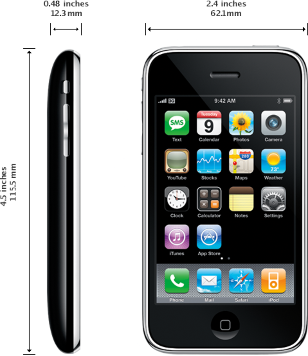 The iPhone 3G featured a black plastic back.