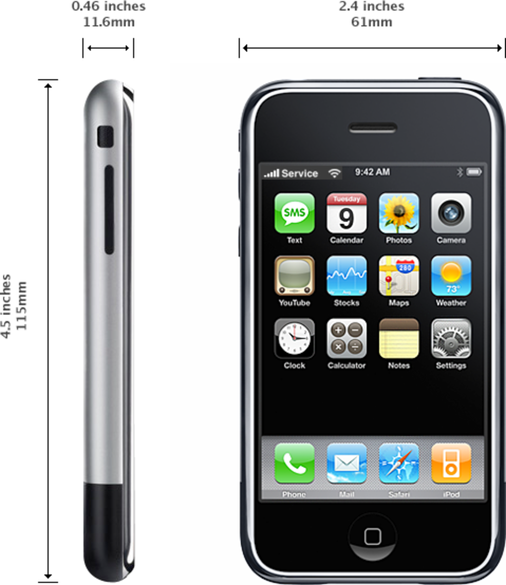 The original iPhone came with 4, 8 or 16 GB of storage space and featured a stainless steel back.