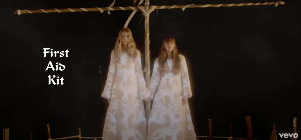 """Looking all kinds of Midsommar here, First Aid Kit is rich with folkloric roots. Their videos are a nice refrain with friendship and female solidarity. Watch """"Wolf"""" for some creature comfort."""