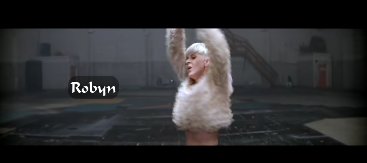 """The liberating dance moves of Robyn in the music video """"Call Your Girlfriend"""". It's a cold as ice love anthem, and she rocks to it in a warehouse."""