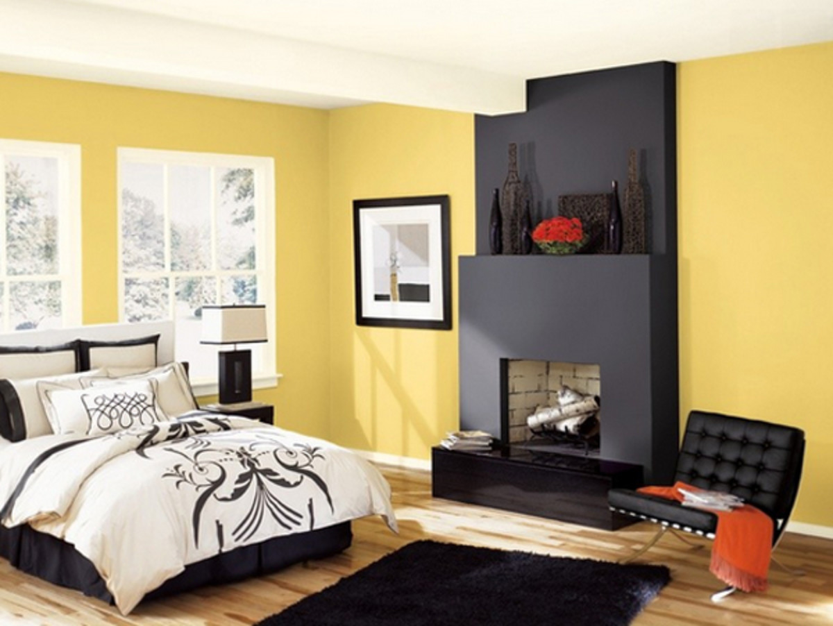 Contrasts are a smart way to go in the Snake Zodiac bedroom. Yellow and black are both lucky colors for the snake. Black is more related to yin, so it's relaxing. Yellow is more earthy, which is a blend of yin and yang.