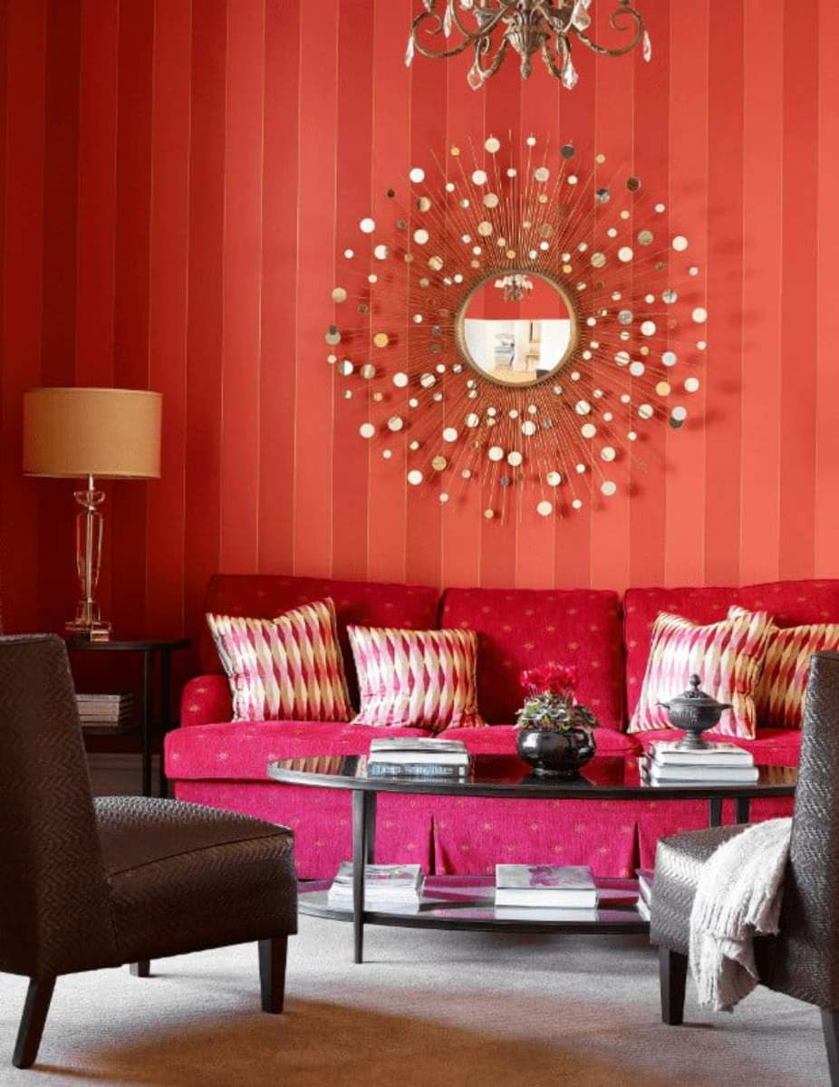 Stripes are a Snake's best friend. The Chinese Zodiac Snake wants to blend in with the stripes. Red is also one of their lucky colors. Look for tall, long, and vertical items for your living room.