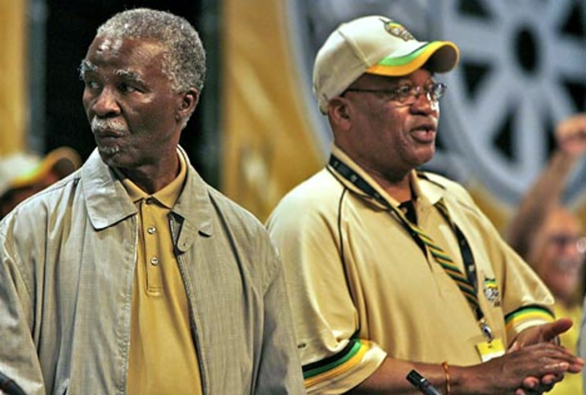 Former and Ousted President Thabo Mbeki and Jacob Zuma, the present President of South Africa