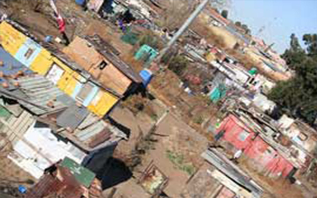 Abahlali baseMjondolo represent many shock dwellers in areas which look like the slum above. they represent the largest autonomous and militant group of poor people in the country, and have successfully they fended the shack dwellers from the ANC.